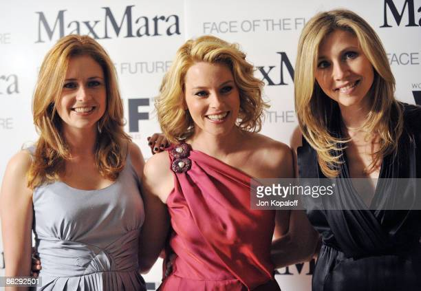 Actress Jenna Fischer actress Elizabeth Banks and actress Sarah Chalke arrive at Women In Film's 2009 MaxMara Face of the Future Cocktail Party at...