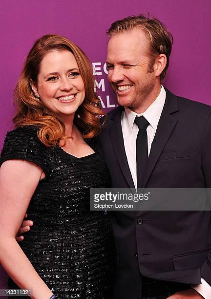 Actress Jenna Fischer and director Lee Kirk attend Giant Mechanical Man Premiere during the 2012 Tribeca Film Festival at the School of Visual Arts...
