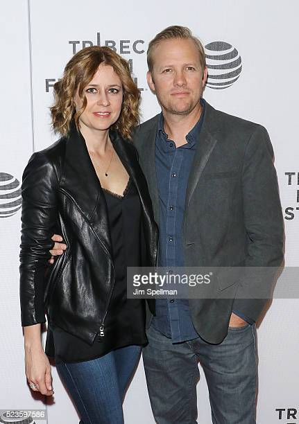 "Actress Jenna Fischer and director Lee Kirk attends the ""Geezer"" premiere during the 2016 Tribeca Film Festival at Spring Studios on April 23, 2016..."