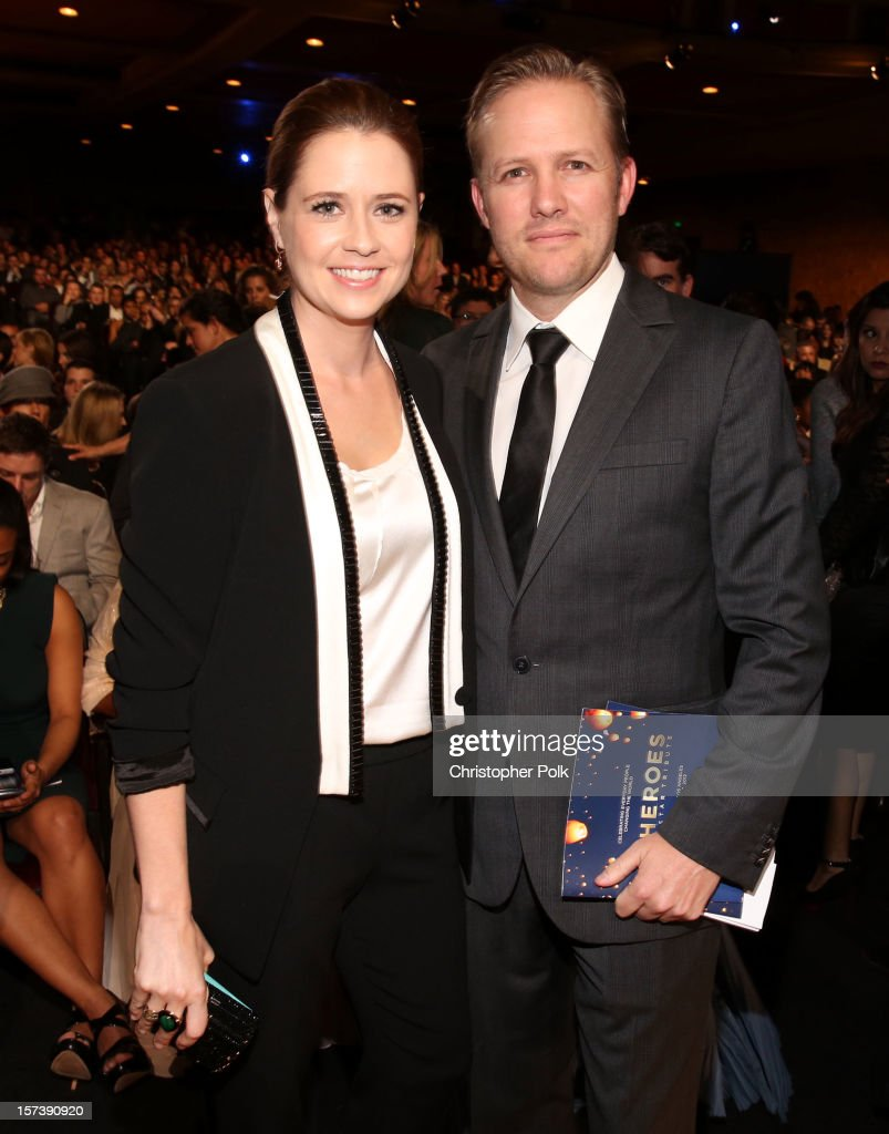 Actress Jenna Fischer and husband Lee Kirk attend the CNN Heroes: An All Star Tribute at The Shrine Auditorium on December 2, 2012 in Los Angeles, California. 23046_005_CP_0122.JPG