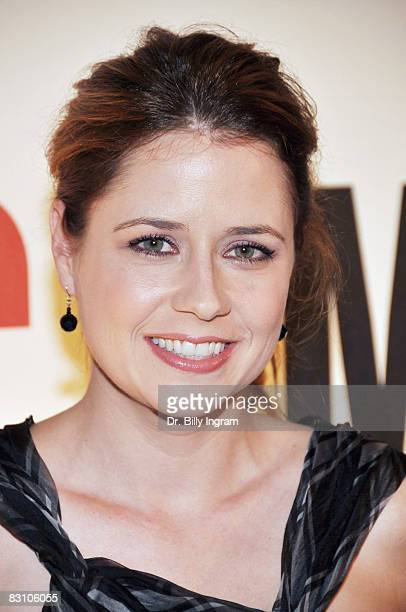 Actress Jenna Fischer arrives at a Party for Tommy Hilfiger's Bravo TV Special hosted by InStyle at the Thompson Hotel on October 2 2008 in Beverly...