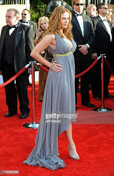 Actress Jenna Fischer arrives at the 15th Annual Screen Actors Guild Awards held at the Shrine Auditorium on January 25 2009 in Los Angeles California