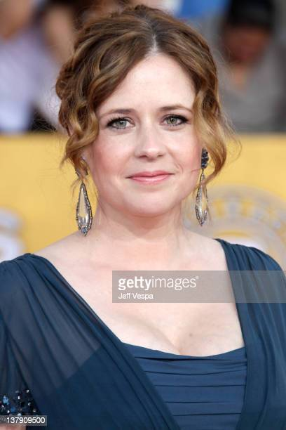 Actress Jenna Fischer arrives at the 18th Annual Screen Actors Guild Awards held at The Shrine Auditorium on January 29 2012 in Los Angeles California