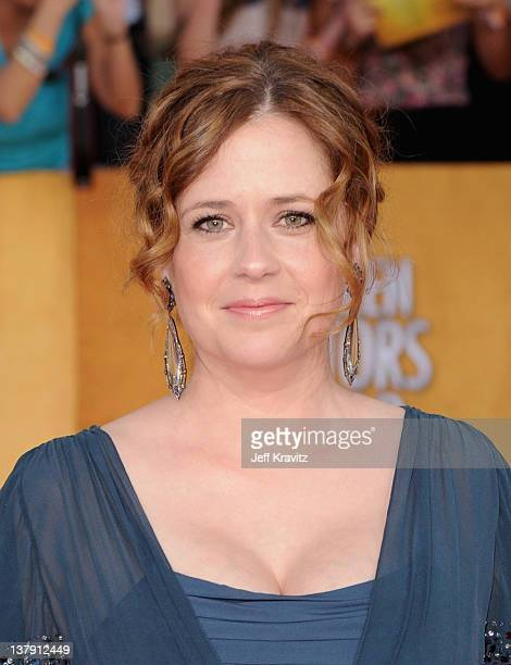 Actress Jenna Fischer arrives at the 18th Annual Screen Actors Guild Awards at The Shrine Auditorium on January 29 2012 in Los Angeles California