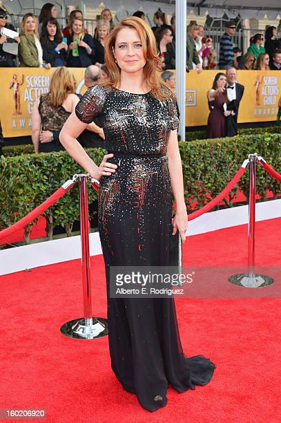 Actress Jenna Fischer arrives at the 19th Annual Screen Actors Guild Awards held at The Shrine Auditorium on January 27 2013 in Los Angeles California