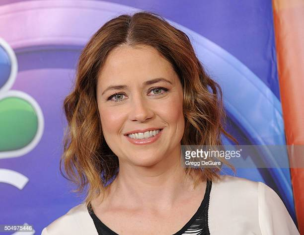 Actress Jenna Fischer arrives at the 2016 NBCUniversal Winter TCA Press Tour at Langham Hotel on January 13, 2016 in Pasadena, California.