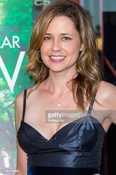 Actress Jenna Fischer arrives at 'The Spectacular Now' Los Angeles Special Screening at the Vista Theatre on July 30 2013 in Los Angeles California