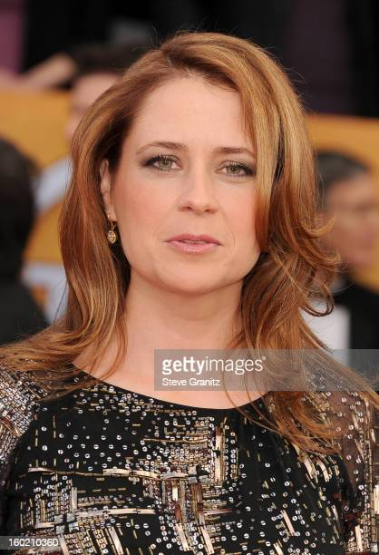 Actress Jenna Fischer arrives at the19th Annual Screen Actors Guild Awards held at The Shrine Auditorium on January 27, 2013 in Los Angeles,...