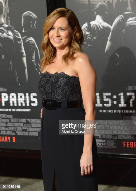 """Actress Jenna Fischer arrives for the Premiere Of Warner Bros. Pictures' """"The 15:17 To Paris"""" held at Steven J. Ross Theater/Warner Bros Studios Lot..."""