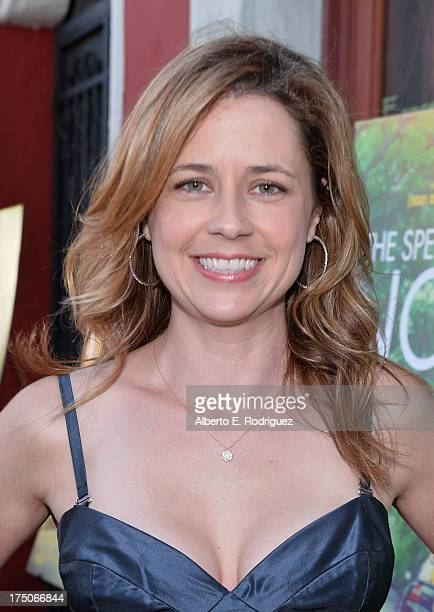 Actress Jenna Fischer arrives to a screening of A24's The Spectacular Now at the Vista Theatre on July 30 2013 in Los Angeles California
