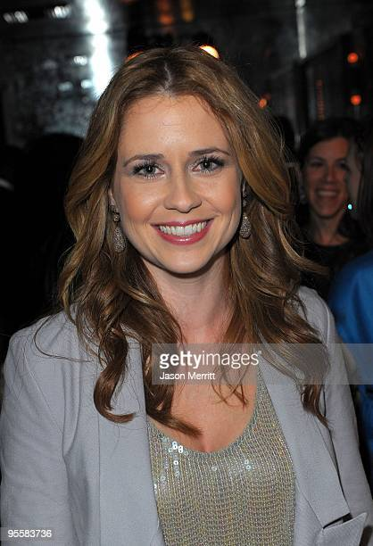 Actress Jenna Fischer at the Swag Suite during US Weekly's Hot Hollywood 2009 party at Voyeur on November 18 2009 in West Hollywood California