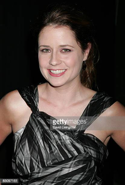 Actress Jenna Fischer attends a party hosted by InStyle Magazine for Tommy Hilfiger's Bravo TV special at the Thompson Hotel on October 2 2008 in...