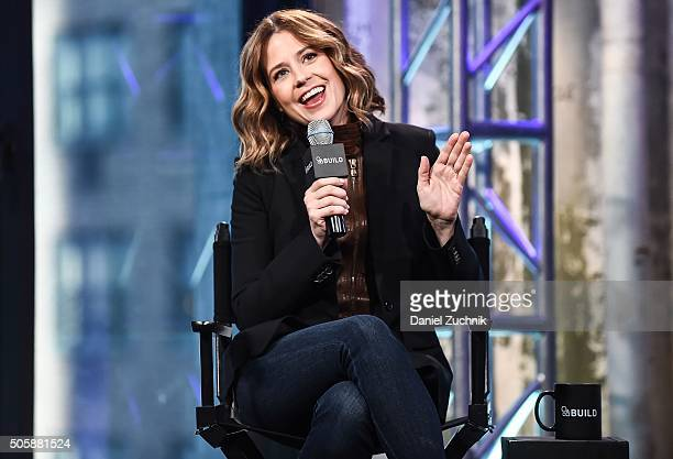Actress Jenna Fischer attends AOL Build to discuss her new show 'You Me and the Apocolypse' at AOL Studios on January 20 2016 in New York City