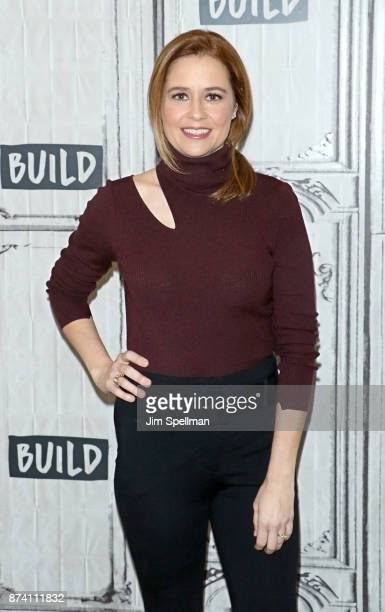 """Actress Jenna Fischer attends Build to discuss """"The Actor's Life: A Survival Guide"""" at Build Studio on November 14, 2017 in New York City."""