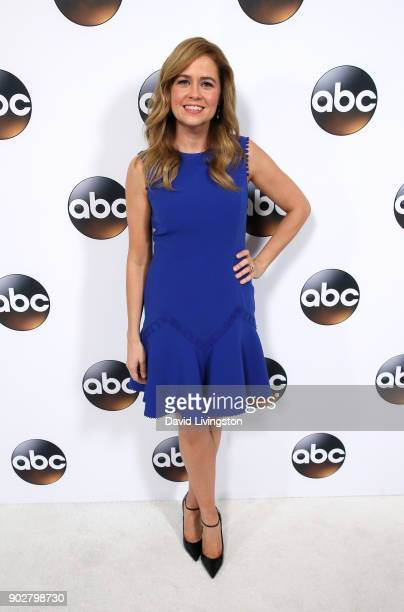 Actress Jenna Fischer attends Disney ABC Television Group's TCA Winter Press Tour 2018 at The Langham Huntington Pasadena on January 8 2018 in...
