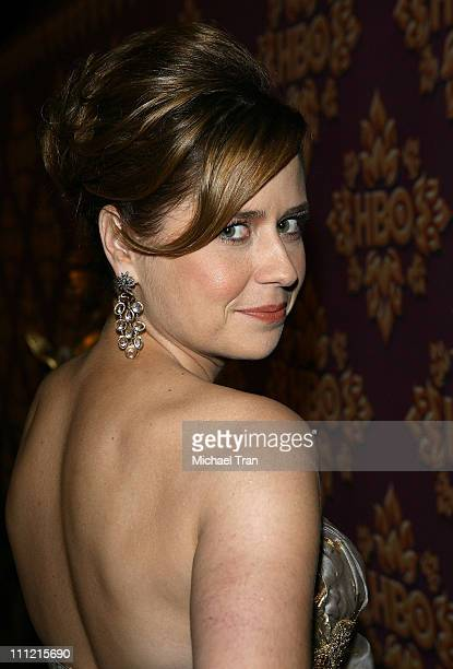 Actress Jenna Fischer attends HBO after party for the 59th Primetime Emmy Awards at The Pacific Design Center on September 16 2007 in Los Angeles...