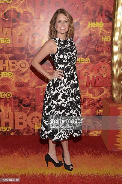 Actress Jenna Fischer attends HBO's Official 2015 Emmy After Party at The Plaza at the Pacific Design Center on September 20 2015 in Los Angeles...