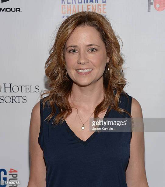 Actress Jenna Fischer attends the Clayton Kershaw's Inaugural Ping Pong 4 Purpose Charity Event Benefitting Kershaw's Challenge at Dodger Stadium on...