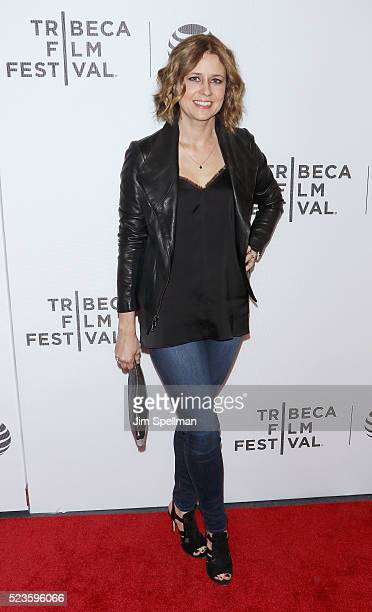 "Actress Jenna Fischer attends the ""Geezer"" premiere during the 2016 Tribeca Film Festival at Spring Studios on April 23, 2016 in New York City."