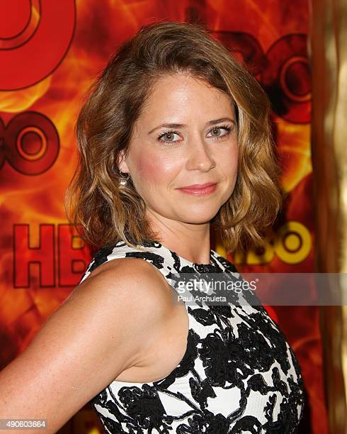 Actress Jenna Fischer attends the HBO's Official 2015 Emmy After Party at The Plaza at the Pacific Design Center on September 20 2015 in Los Angeles...