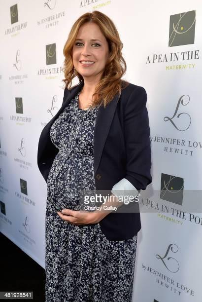 Actress Jenna Fischer attends the launch of Jennifer Love Hewitt's new maternity line, 'L By Jennifer Love Hewitt' at A Pea In The Pod on April 1,...