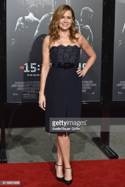 Actress Jenna Fischer attends the premiere of 'The 15:17 To Paris' at Warner Bros. Studios on February 5, 2018 in Burbank, California.