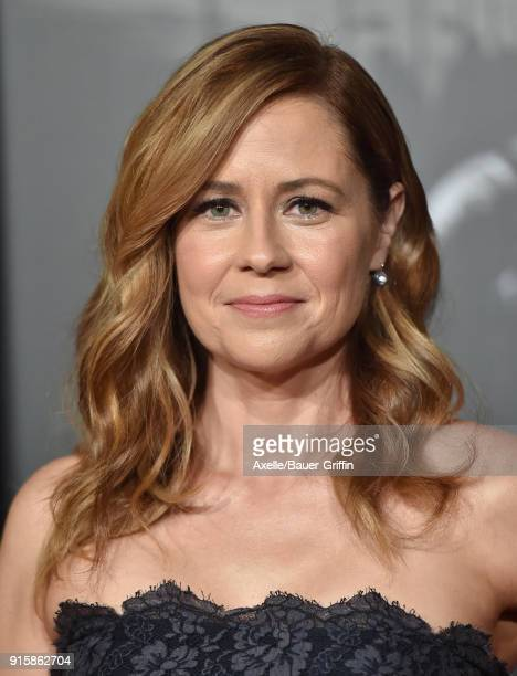 Actress Jenna Fischer attends the premiere of 'The 1517 To Paris' at Warner Bros Studios on February 5 2018 in Burbank California