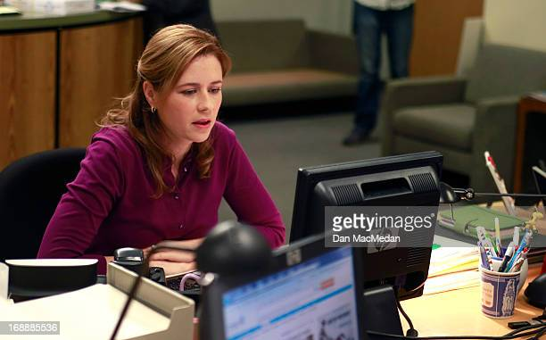 Actress Jenna Fischer is photographed for USA Today on the set of 'The Office' on February 5, 2013 in Van Nuys, California.