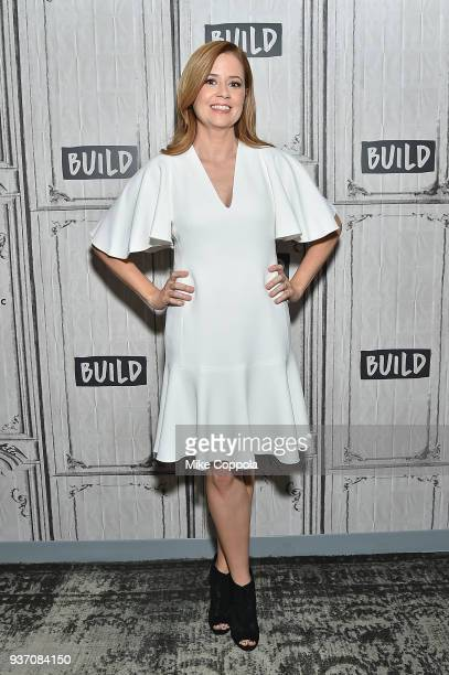 Actress Jenna Fischer poses for a picture at Build Studio on March 23 2018 in New York City