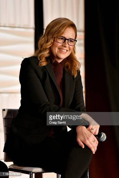 Actress, Jenna Fischer, speaks onstage during ONWARD19: The Future Of Search - Day 3 at Marriott Marquis Times Square on October 30, 2019 in New York...