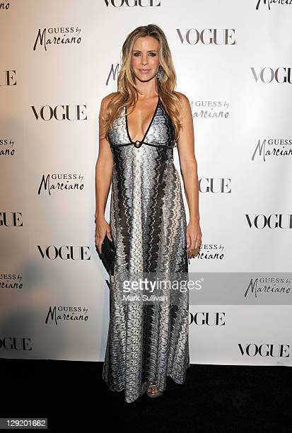 Actress Jenna Gering attends Guess by Marciano and Vogue 2011 Holiday Collection debut at Mr C Beverly Hills on October 13 2011 in Beverly Hills...