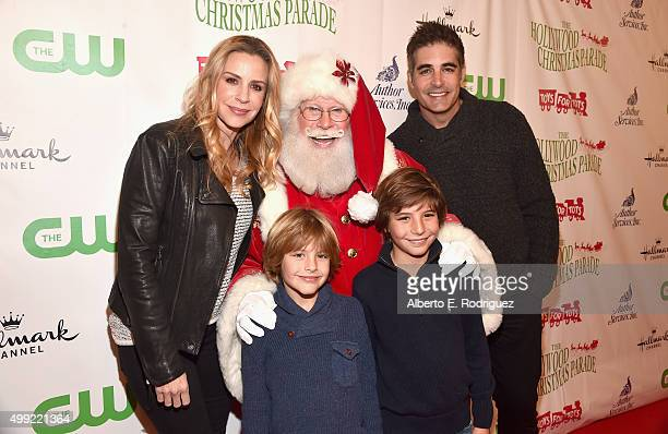 Actress Jenna Gering Santa and Galen Gering with family attend 2015 Hollywood Christmas Parade on November 29 2015 in Hollywood California