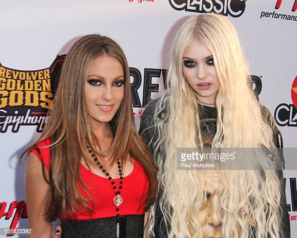 Actress Jenna Haze and Musician / Actress Taylor Momsen arrive at the 3rd annual Revolver Golden God Awards at Club Nokia on April 20, 2011 in Los...