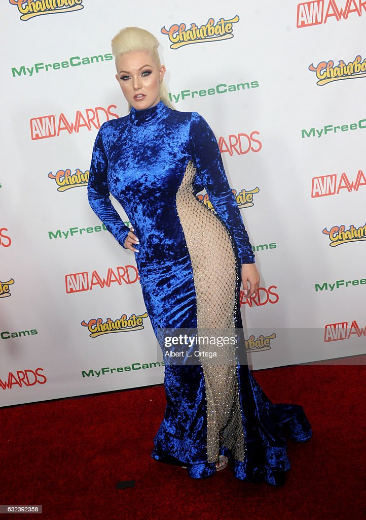 Actress Jenna Ivory arrives at the 2017 Adult Video News Awards held at the Hard Rock Hotel & Casino on January 21, 2017 in Las Vegas, Nevada.