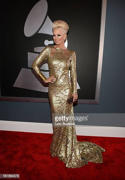 Actress Jenna Jameson attends the 55th Annual GRAMMY Awards at STAPLES Center on February 10 2013 in Los Angeles California