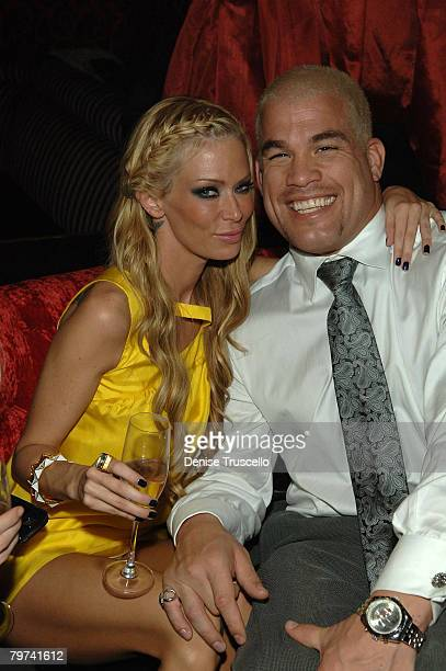 Actress Jenna Jamison and UFC fight Tito Ortiz attend the CatHouse grand opening party at Luxor Las Vegas on December 29 2007 in Las Vegas Nevada
