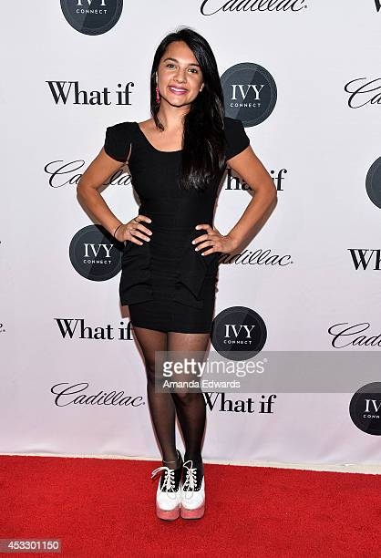 Actress Jenna Jimenez arrives at Ivyconnect's Inaugural Ivy Innovator Film Awards Honoring Daniel Radcliffe at the Landmark Theatre on August 6 2014...