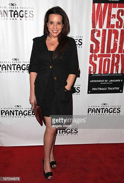 Actress Jenna Leigh Green attends the opening night of 'West Side Story' at the Pantages Theatre on December 1 2010 in Hollywood California
