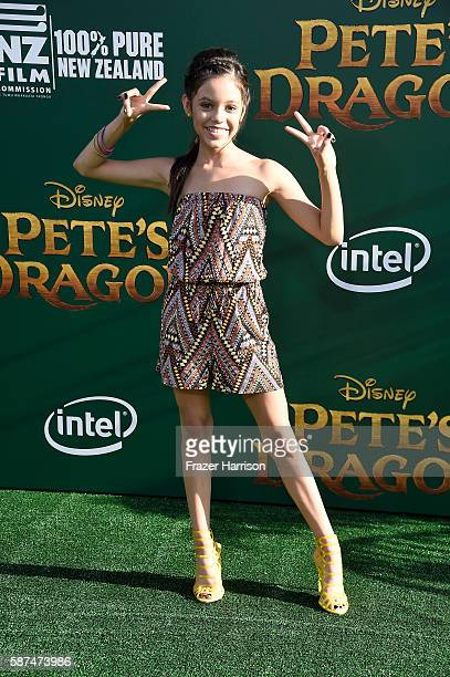 Actress Jenna Ortega attends the premiere of Disney's Pete's Dragon at the El Capitan Theatre on August 8 2016 in Hollywood California