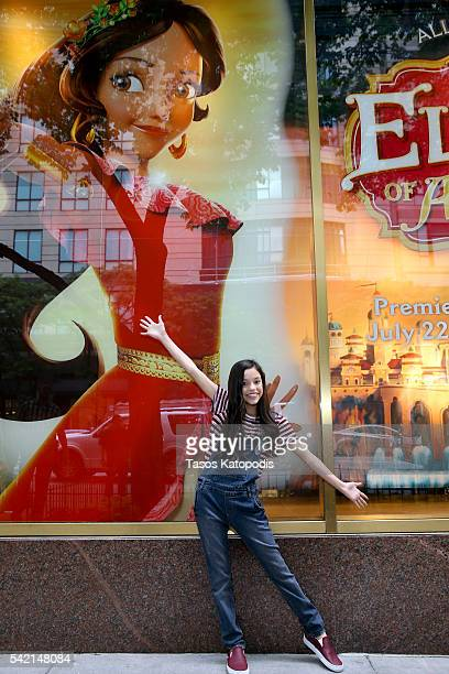 Actress Jenna Ortega voice of Isabel in the highly anticipated animated series 'Elena of Avalor' celebrates the launch of new products tied to show...