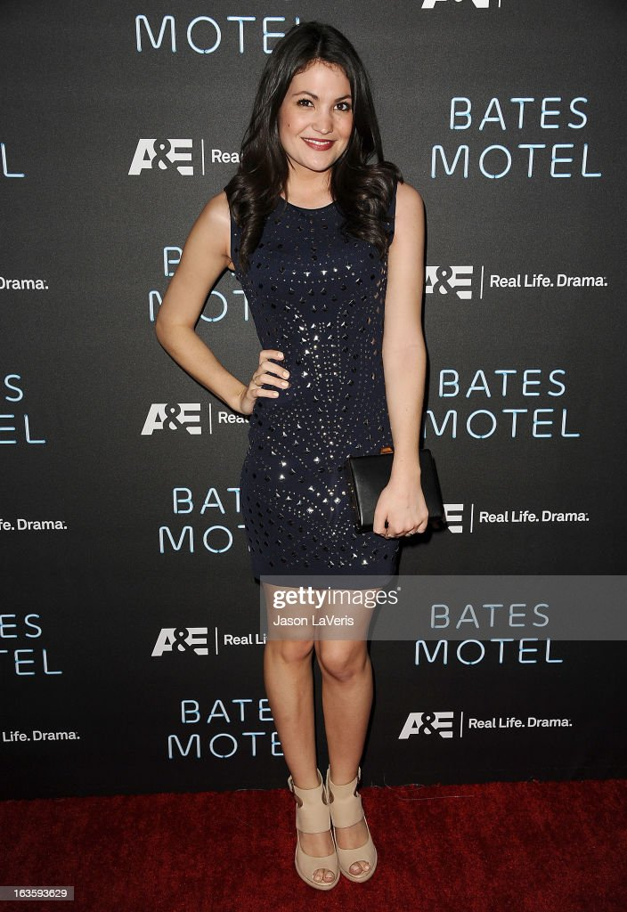 Actress Jenna Romanin attends the premiere of 'Bates Motel' at Soho House on March 12, 2013 in West Hollywood, California.
