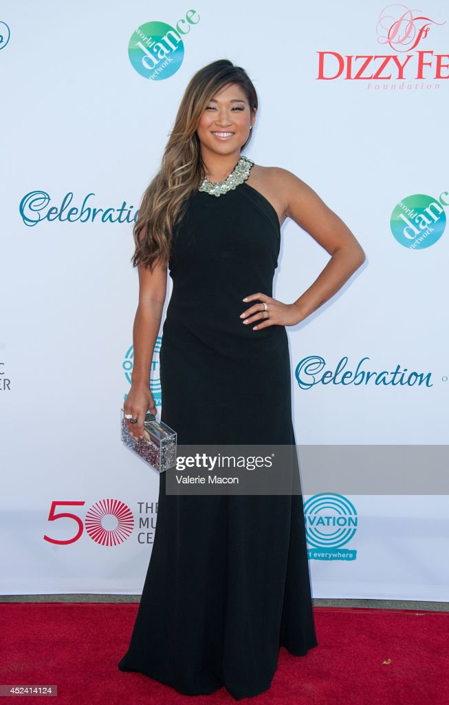 Actress Jenna Ushkowitz arrives at the 4th Annual Celebration Of Dance Gala Presented By The Dizzy Feet Foundation at Dorothy Chandler Pavilion on July 19, 2014 in Los Angeles, California.