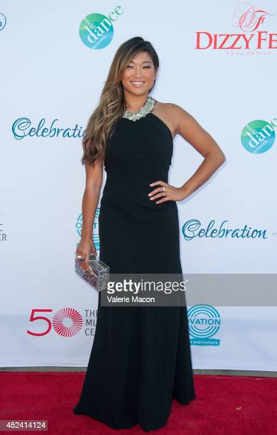 Actress Jenna Ushkowitz arrives at the 4th Annual Celebration Of Dance Gala Presented By The Dizzy Feet Foundation at Dorothy Chandler Pavilion on...