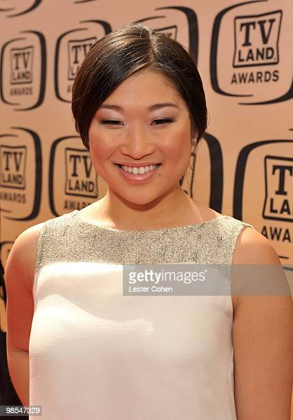 Actress Jenna Ushkowitz arrives at the 8th Annual TV Land Awards at Sony Studios on April 17 2010 in Los Angeles California
