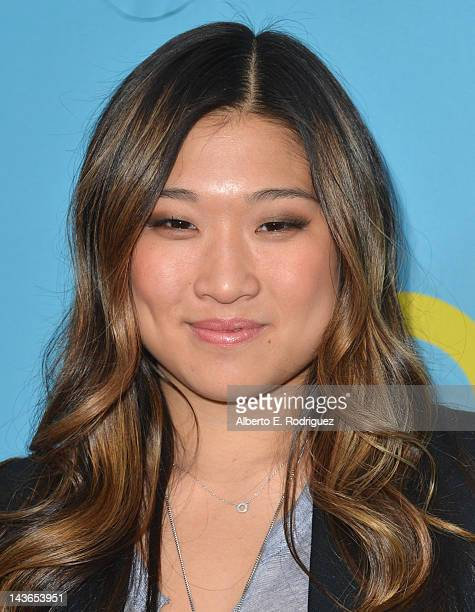 Actress Jenna Ushkowitz arrives to The Academy of Television Arts Sciences' screening of Fox's Glee at Leonard Goldenson Theatre on May 1 2012 in...