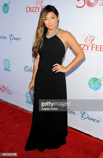 Actress Jenna Ushkowitz attends Dizzy Feet Foundation's Celebration Of Dance Gala at The Music Center on July 19, 2014 in Los Angeles, California.