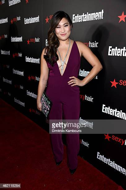Actress Jenna Ushkowitz attends Entertainment Weekly's celebration honoring the 2015 SAG awards nominees at Chateau Marmont on January 24, 2015 in...
