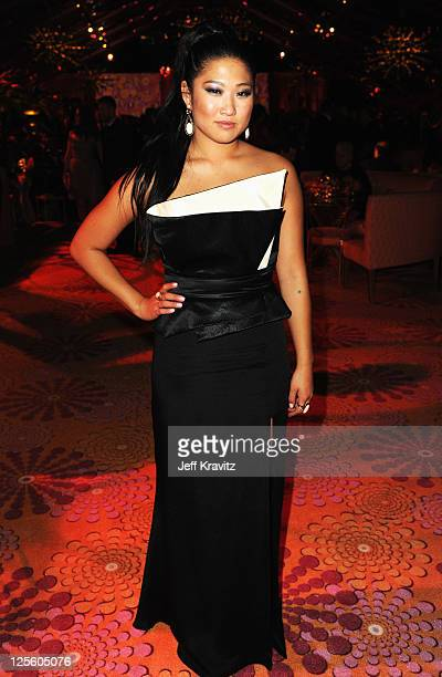 Actress Jenna Ushkowitz attends HBO's Official Emmy After Party at The Plaza at the Pacific Design Center on September 18, 2011 in Los Angeles,...