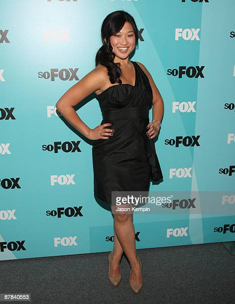 Actress Jenna Ushkowitz attends the 2009 FOX UpFront after party at the Wollman Rink in Central Park on May 18 2009 in New York City