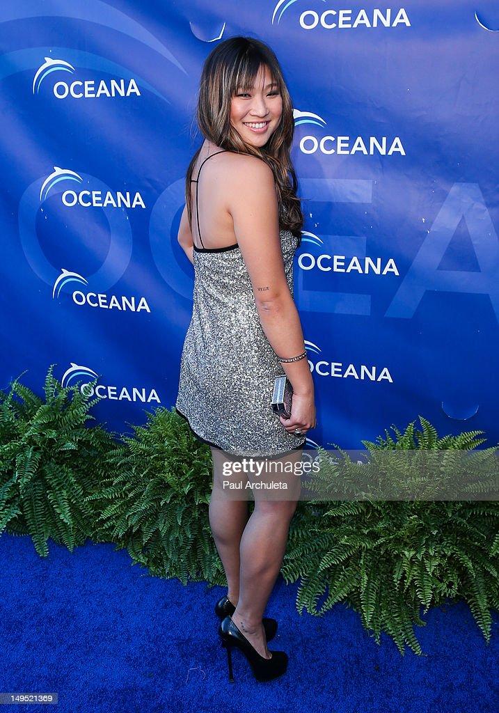 Actress Jenna Ushkowitz attends the 2012 Oceana's SeaChange summer party on July 29, 2012 in Laguna Beach, California.